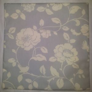 "Cushion Cover in Clarke and Clarke Meadow in Grey Roses Birds 14"" 16"" 18"" 20"""